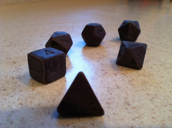 Bittersweet Polyhedral Dice