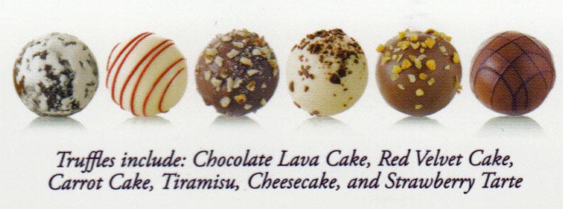 Chocolate Cake Balls With White Chocolate Coating