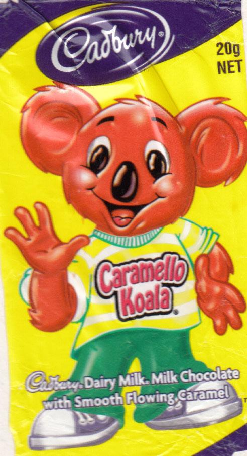 cadbury caramello koala chocolate i have known